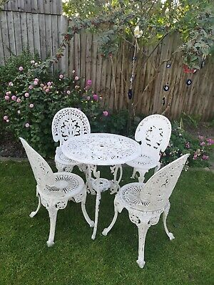 Cast Iron Effect Aluminium Garden Furniture  Table And 4 Chairs • 250£