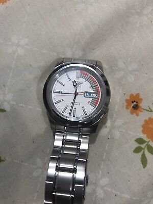 $ CDN150 • Buy Seiko 5 Japan 21J Automatic 7S26-02W0 White Speed Dial Men's Wrist Watch