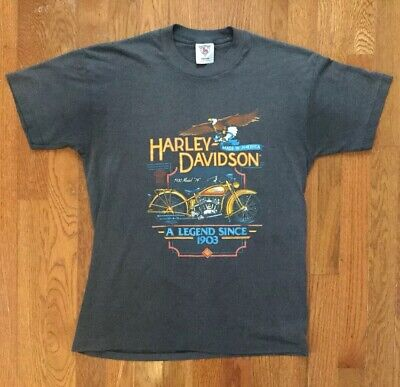 $ CDN39.99 • Buy Vintage 1987 Harley-davidson Motorcycle Factory Holoubek Men's Medium T-shirt!