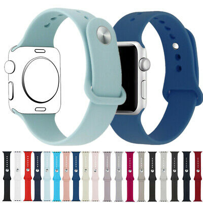 $ CDN9.89 • Buy 38/40mm 42/44mm Silicone Sports Band Strap For Apple Watch Series 5 4 3 2 1 New