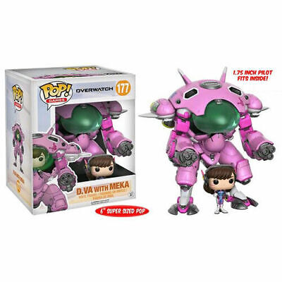 AU49.95 • Buy Funko Pop Vinyl Overwatch D.va And Meka Pink 6  Supersize Vinyl Figure
