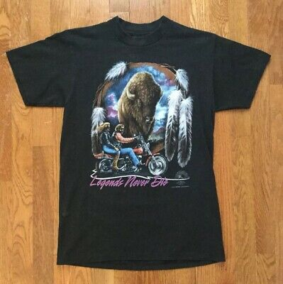 $ CDN96.52 • Buy Vintage 1993 Easy Riders Never Die Motorcycle 3d Emblem Men's Medium T-shirt!