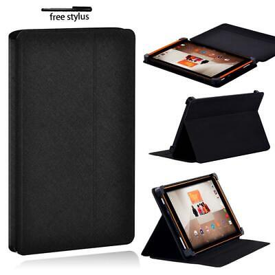 £5.99 • Buy Black Folio Leather Tablet Stand Protective Cover Case For TESCO Hudl 2 8.3