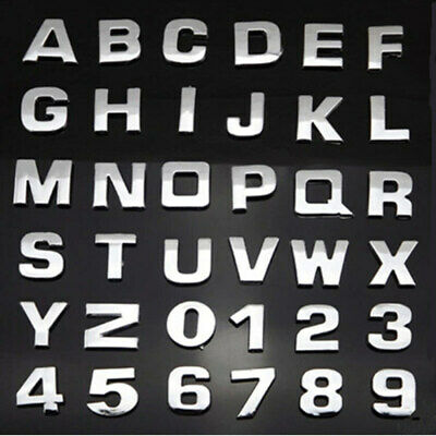 £0.99 • Buy NEW CHROME / SILVER LETTERS + NUMBERS, SELF ADHESIVE, GOOD QUALITY, 27mm Tall