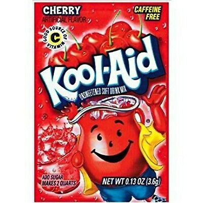 Kool-Aid Soft Drink Mix - Cherry Unsweetened, Caffeine Free, 0.13 Oz/envelope... • 10.27£