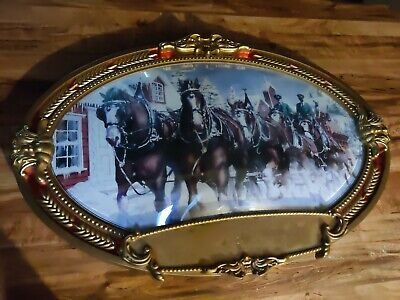$ CDN79.99 • Buy Rare 2 Sided Clydesdale Budweiser Sign Year 2000