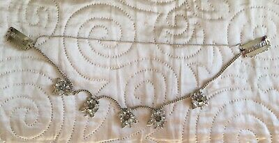 £4.95 • Buy Silver Floral Hair Jewel Chain Wedding Special Occasion ASOS Brand New Boxed