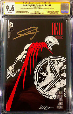 FRANK MILLER SIGNED DK III The Master Race CGC 9.6 SS DOUGLAS PRICE SKETCH 300 • 491.43£