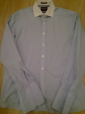 £15 • Buy Mens Smart Slim Fit Sartorial Shirt By M&S, Size 16.5 Collar Double Cuffs