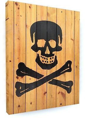 Pirate Skull And Crossbones Canvas Picture Print Wall Art #5435 • 16.29£