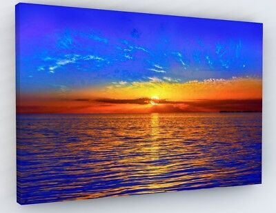 £27.98 • Buy STUNNING SUNSET BEACH COLOURFUL CANVAS PICTURE WALL ART Various Sizes A113