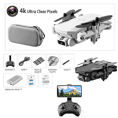 AU62.09 • Buy Mini Drones With 4K HD Camera GPS Fordable Arms Remote ​WiFi FPV Quadcopter