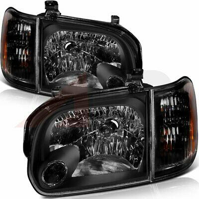 $148.09 • Buy Black Housing For 05-06 Toyota Tundra 07 Sequoia Clear Lens Headlight Assembly