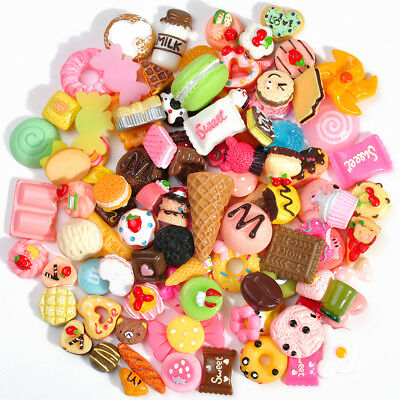 $ CDN3.04 • Buy LOT 10Pcs Fast Food&Rilakkuma Hard Plastic Squishy Charms Squeeze Toy Collection