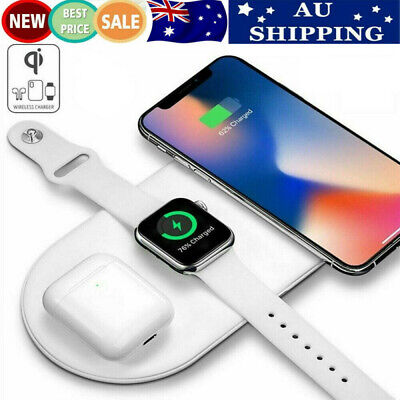 AU25.88 • Buy 3 In 1 Wireless Charger Pad Fast Charging Dock For AirPods Apple Watch 6 IPhone