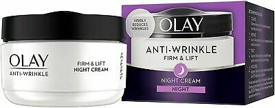 AU16.21 • Buy Olay Anti-Wrinkle Firm & Lift Night Cream Visibly Reduces Wrinkles 50ml