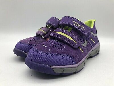 New Ex-Display Superfit Girls Purple & Yellow Childrens Casual Strap Trainers • 19.99£
