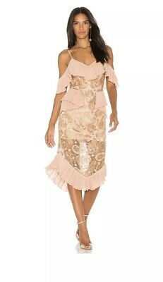 AU200 • Buy As New Alice Mccall We Could Be Friends Rose Gold Lace Dress Size 6 Rrp$490