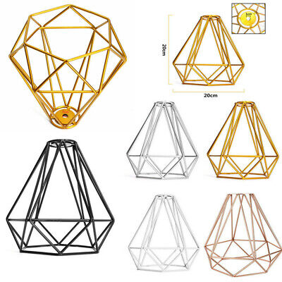 £8.99 • Buy Metal Pendant Light Shade Ceiling Industrial Geometric Wire Cage Lampshade Decor