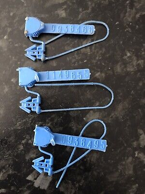 3 Electric Meter / Gas Security / Cutout Seals • 10£