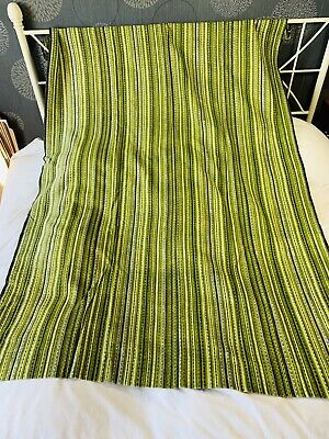 Funky Vintage Green Pair Of Curtains 45.5  Wide 66.5  Drop Retro 70s • 35£