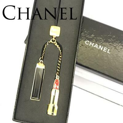 £50.98 • Buy CHANEL Key Chain Charm Strap Novelty ROUGE ALLURE