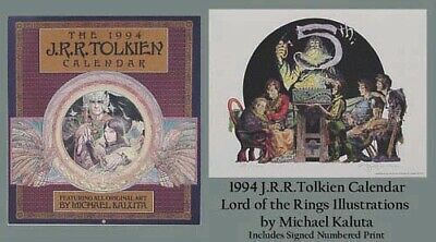 £60.18 • Buy 1994 Tolkien Calendar With Michael Kaluta Art & Signed + Numbered Print # 29/100