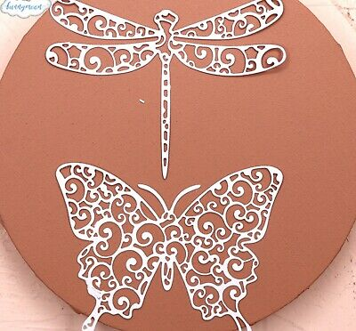 £8.95 • Buy XXL Metal Cutting Die Butterfly Dragonfly Summer Love Card Making