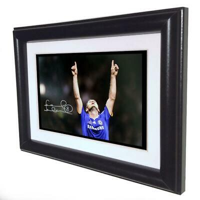 Signed Frank Lampard Chelsea Autographed Photo Photograph Picture Frame Gift Sml • 12£