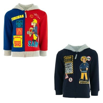 Boys Sweater Jacket Fireman Sam Casual Jacket Blue Grey 92 - 116 #55 • 21.79£