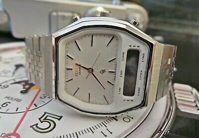 CITIZEN ANA/DIGITAL QUARTZ VINTAGE BRACELET WATCH C1970's-MINT CONDITION! • 11.50£