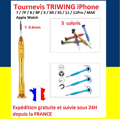 AU17.09 • Buy Screwdriver Magnetic Triwing Y0.6 Y000 0.6 There IPHONE 7 7P 8 Plus X 10 Apple