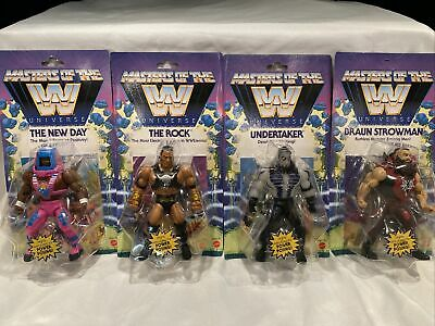 $99.99 • Buy WWE Masters Of The Universe Series 4 Lot Rock Undertaker Braun Strowman New Day