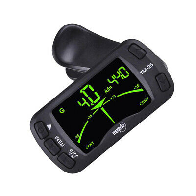 AU13.55 • Buy TM-25 Clip-on Electric Tuner Metronome Guitar Bass Violin Ukulele Universal C2J3