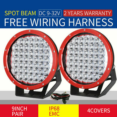 AU118.98 • Buy OSRAM 9 Inch Pair LED Driving Work Lights Spot Red Round Offroad Truck SUV 4WD