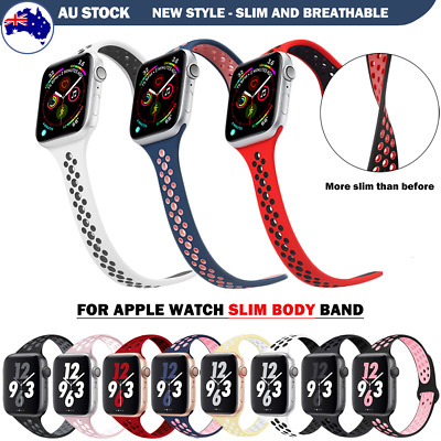 AU9.89 • Buy For Apple Watch Band Sport Silicone Series SE 6 5 4 3 IWatch 40 42 44mm AU Stock