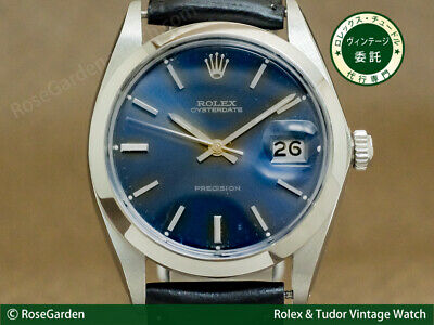 $ CDN4236.14 • Buy Rolex Oyster Date Ref.6694 Vintage Cal.1210 SS Blue Manual Winding Mens Watch