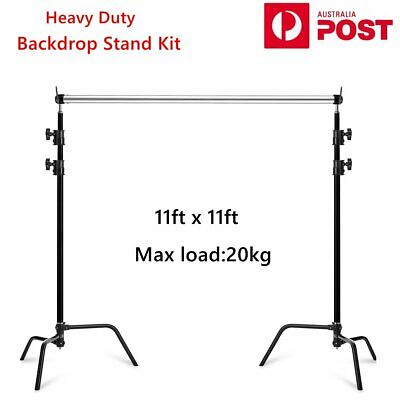 AU359.90 • Buy Studio Heavy Duty C Light Stand Backdrop Support Crossbar Kit For Photography AU