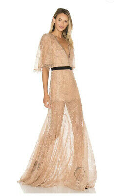 AU300 • Buy As New Alice Mccall Look Good Feel Good Gown Antique Rose Lace Dress Size 6 $490