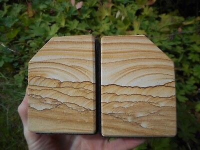 Kanab Goldenstone Picture Sandstone Bookends Natures Natural Paintings • 85£