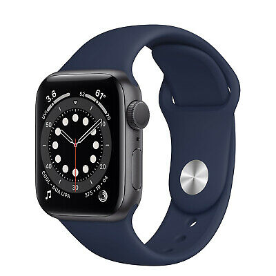 AU740 • Buy Apple Watch Series 6 GPS 44mm Blue Aluminium Deep Navy Sport Band R