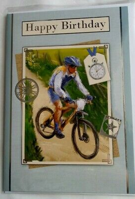 £0.99 • Buy Happy Birthday, Open Male Cycling Card  Free P&p