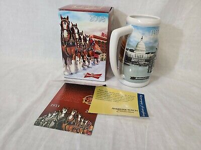 $ CDN12.98 • Buy 2008 Budweiser Holiday Collectible Stein 75th Anniversary