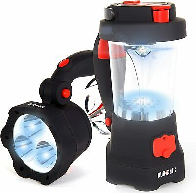 £25.99 • Buy Duronic Hurricane 4 In 1 Rechargeable Wind-Up Camping LED Lamp Lantern Torch USB