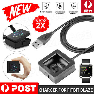 AU6.95 • Buy For Fitbit Blaze Smart Watch Charging Cradle Dock Cable USB Charger Replacement