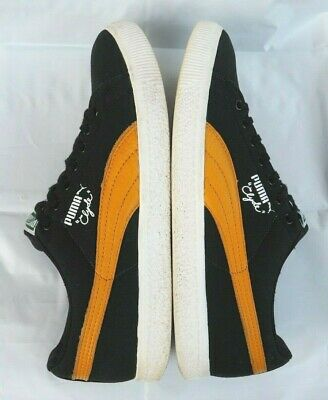 Puma Clyde X UNDFTD Undefeated CNVS Canvas Shoes Black Mineral Yellow Men's 9.5 • 39.35£