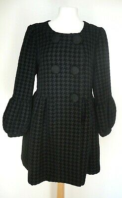 £20 • Buy DARLING Black Houndstooth Check Pretty Coat S