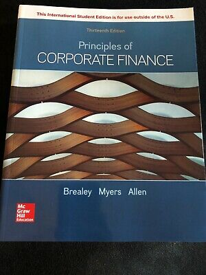 £39.99 • Buy Principles Of Corporate Finance By Richard Brealey 9781260565553 | Brand New