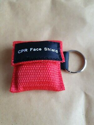 First Aid Resuscitation CPR Facemask Face Mask Shield Key-ring Mouth To Mouth • 2.95£