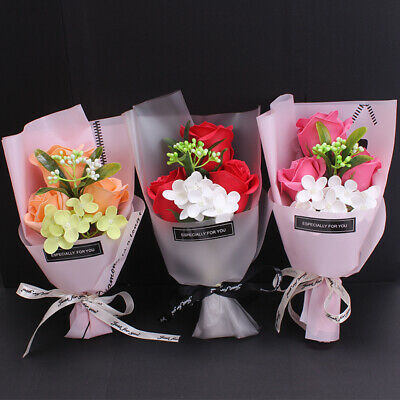 AU9.80 • Buy Rose Soap Flowers Birthday Valentine's Day Mother's Day Friends Gift Box 25cm